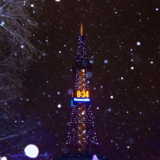 雪のさっぽろテレビ塔