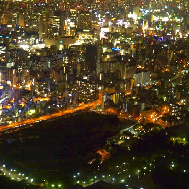 ミナミ方面の夜景