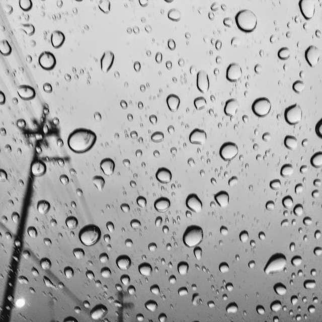 artistic rain drops