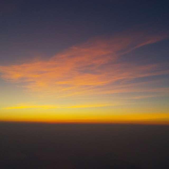 富士山の御来光少し前