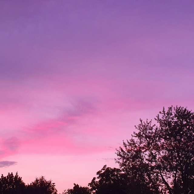 Glimmender Himmel