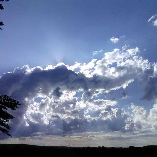 Sun thru Wild Clouds