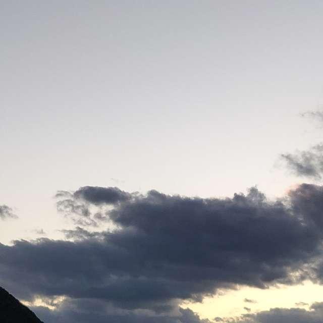 Atardecer algo nublado.