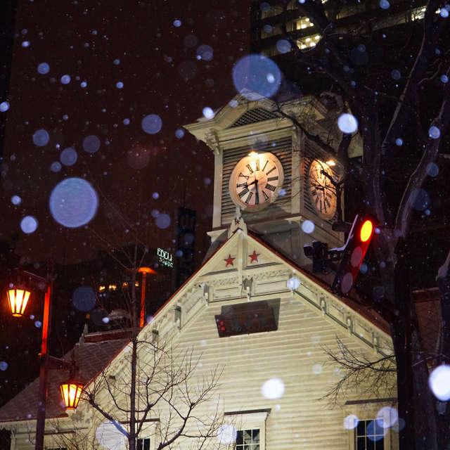 雪の札幌時計台