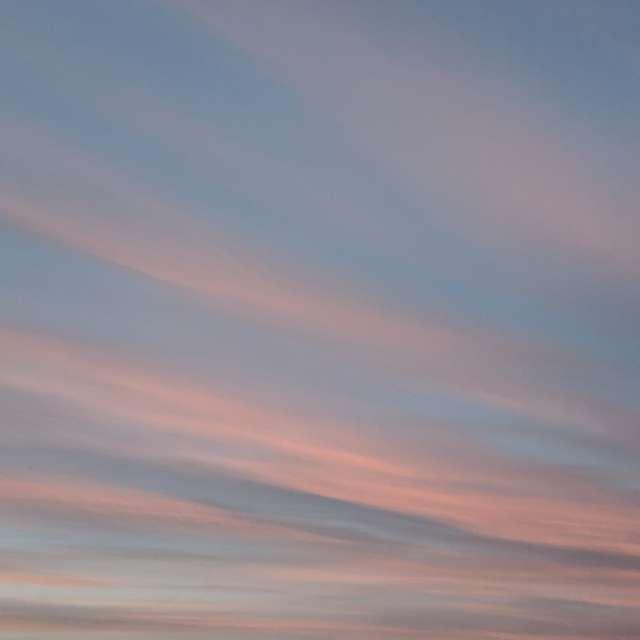 Розовый закат в городе