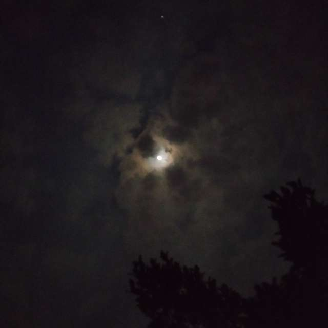 Full moon and a star