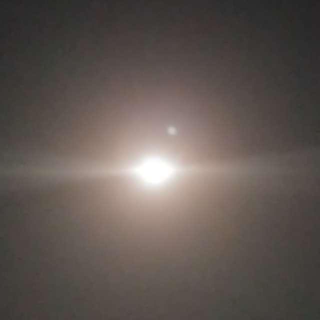 スーパームーン前日に撮影でした。リア日は雲☁️で断念、