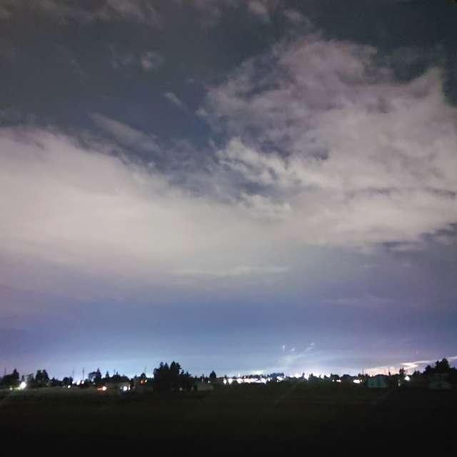 田舎 夜景