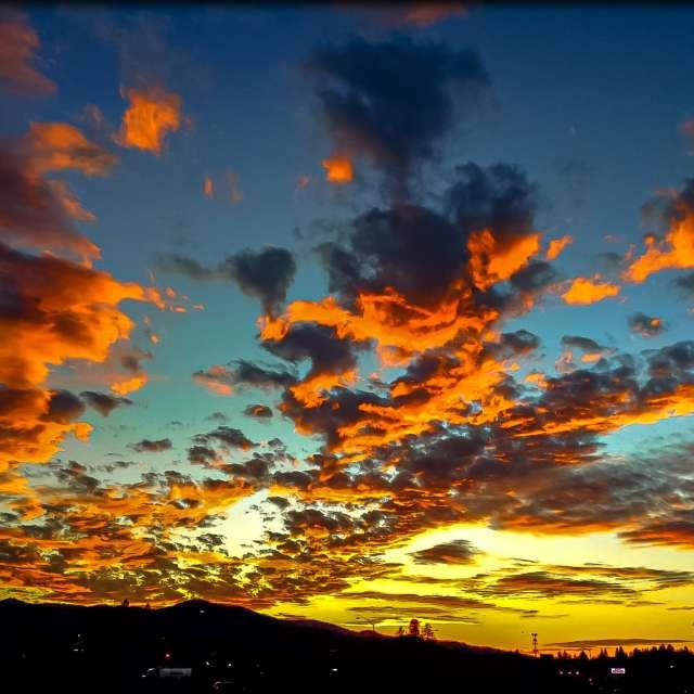 Evening  69°F cloudy sunset
