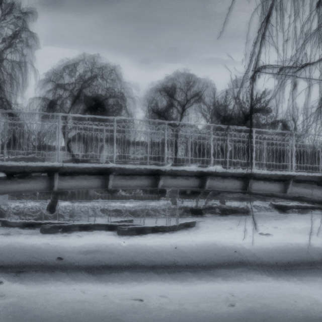 Bridge in a winter dress ...