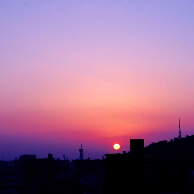 紫霞の夕焼け