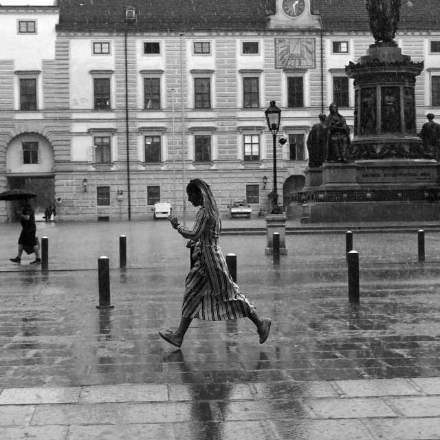 Wien rain shower