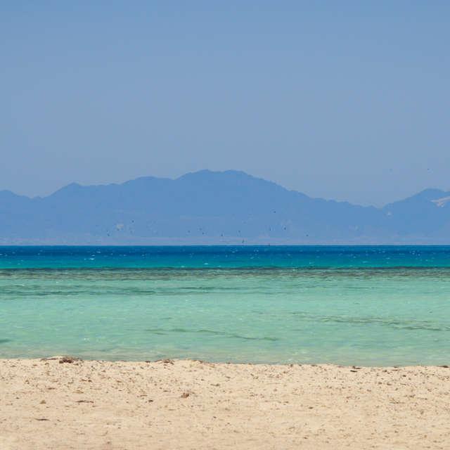 Sea view, beauty blue lagoon
