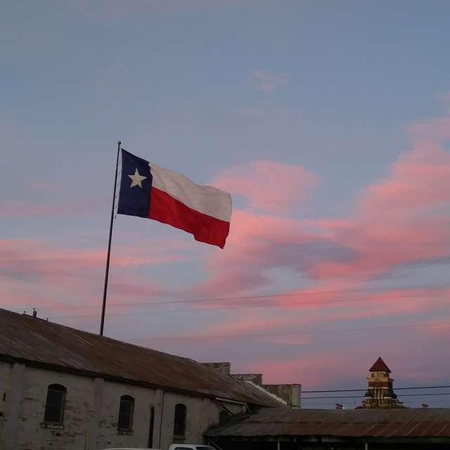 Texas pink clouds sunset