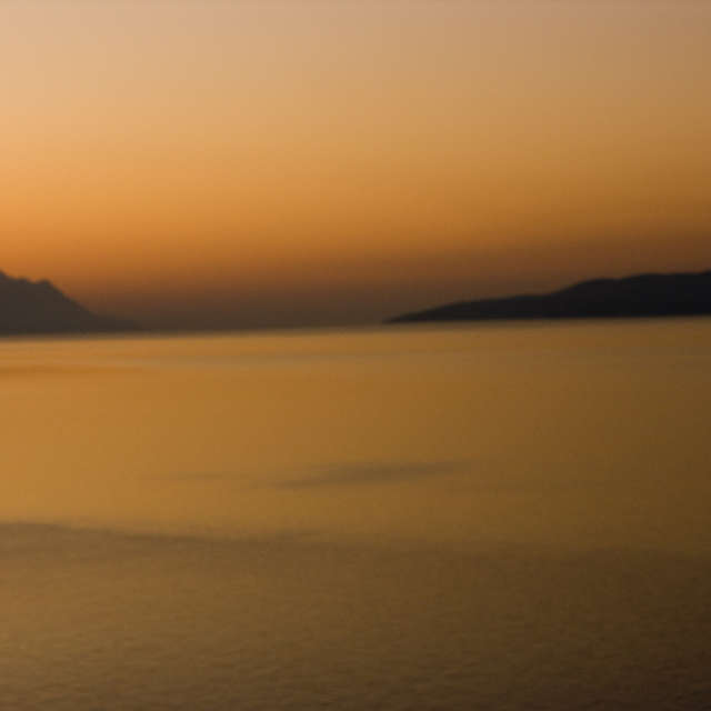 Sunset near Omis Croatia