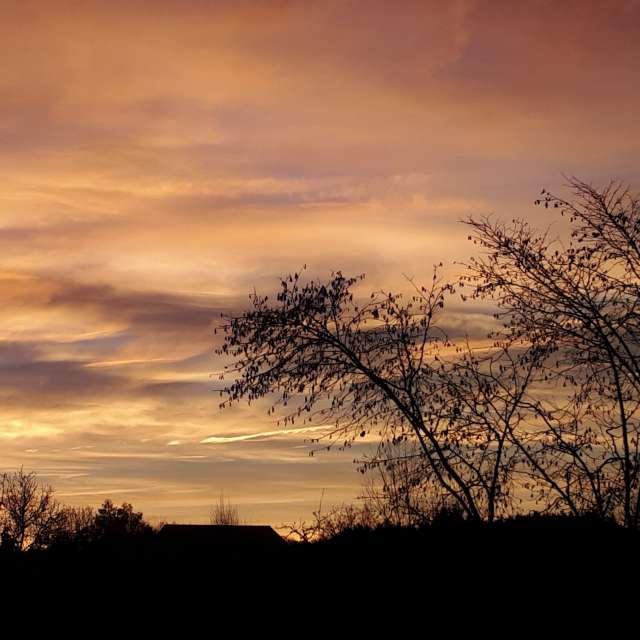 Beeindruckender Morgenhimmel