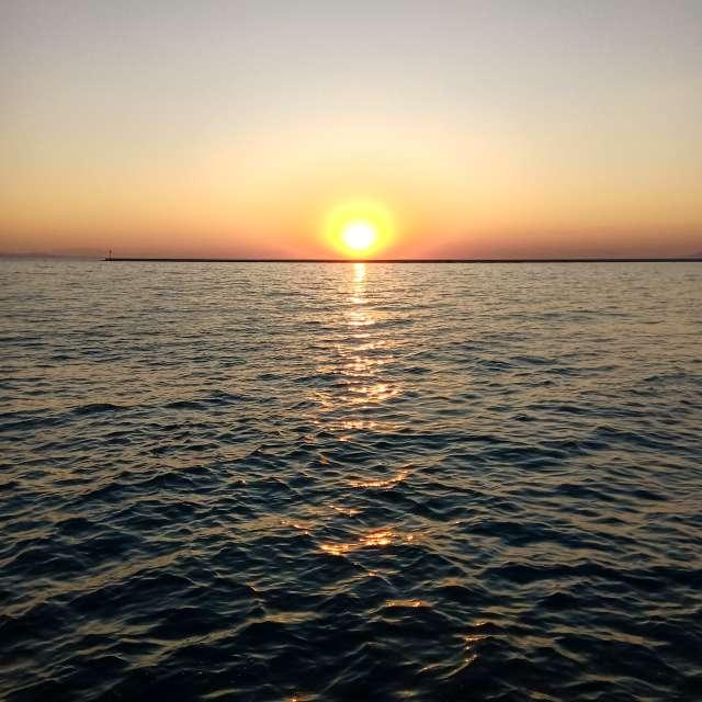 Закат у моря.!