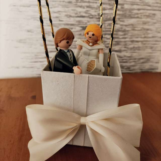 Hochzeitspaar Heißluftballon