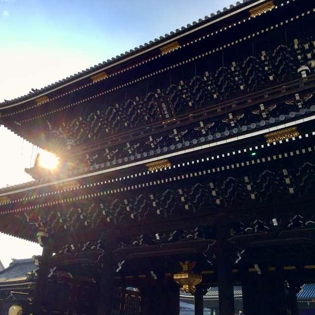 夕映えの西本願寺