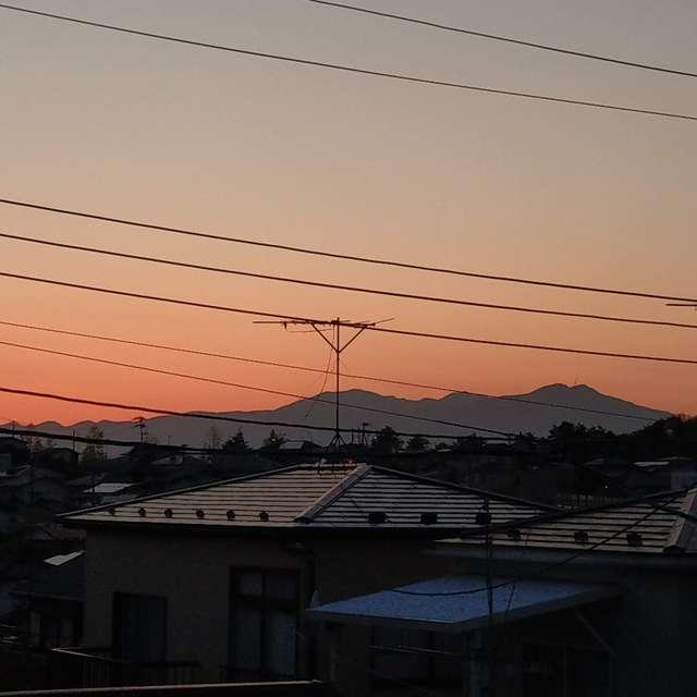 Sti🐤# 澄み切った蔵王連峰の夕陽
