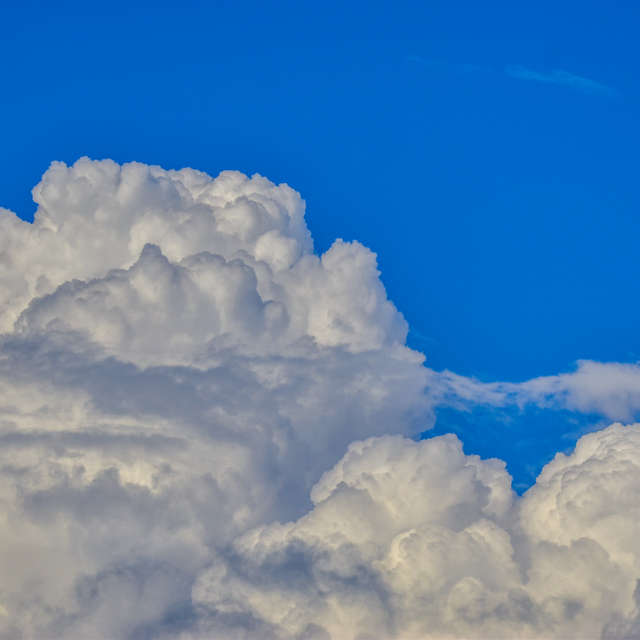 cumulus in the sky