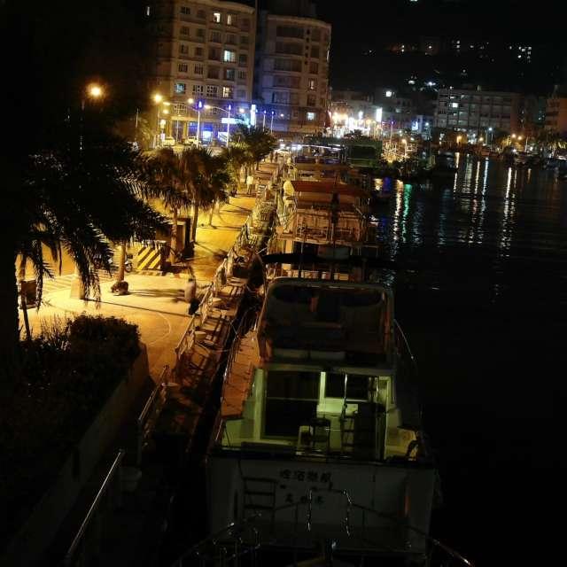哨船街の夜 1 (高雄) Habor at night 1