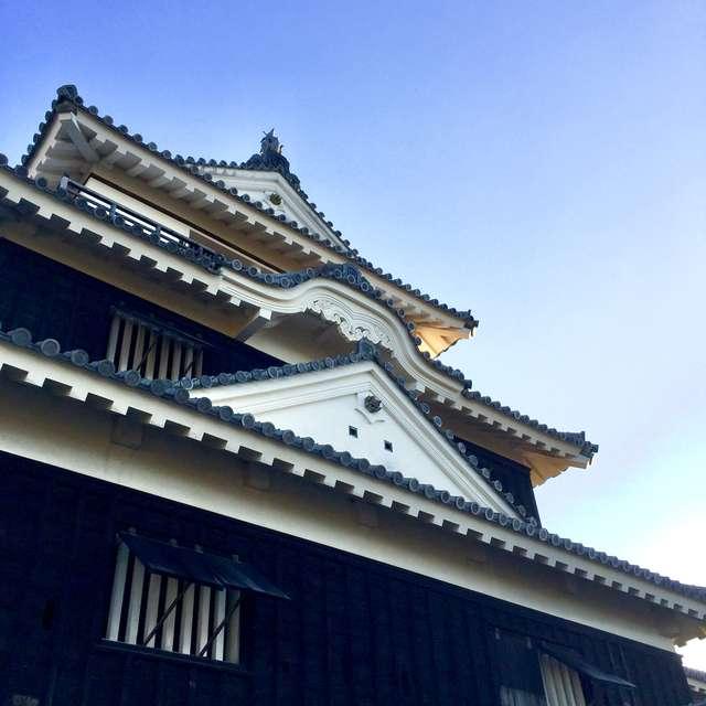 夕刻の松山城