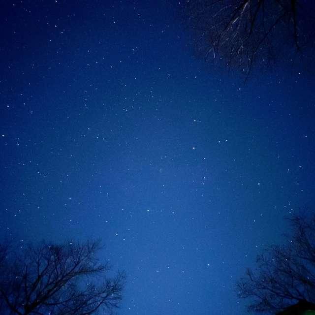 Night sky in smoky mountains