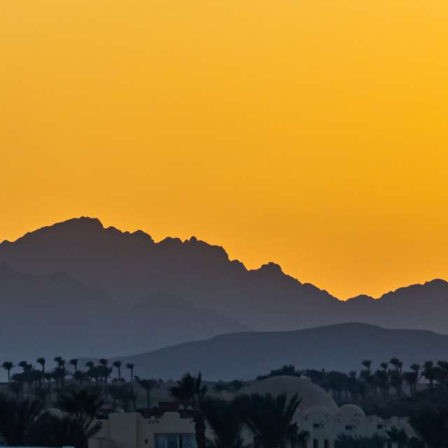 sunset in Makadi