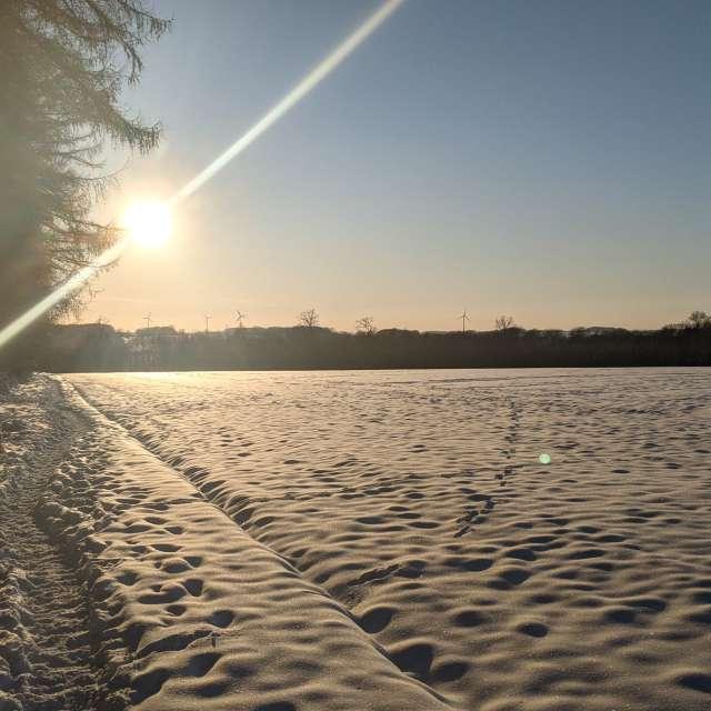 Sonnenuntergang Spaziergang