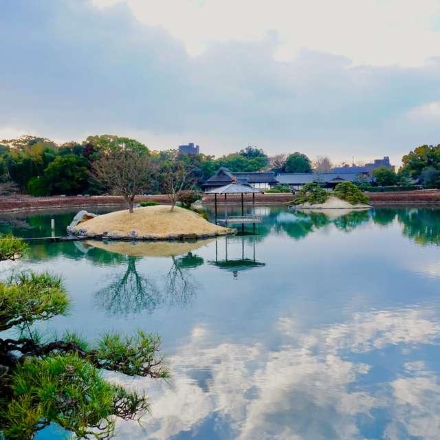 岡山後楽園の美しい風景