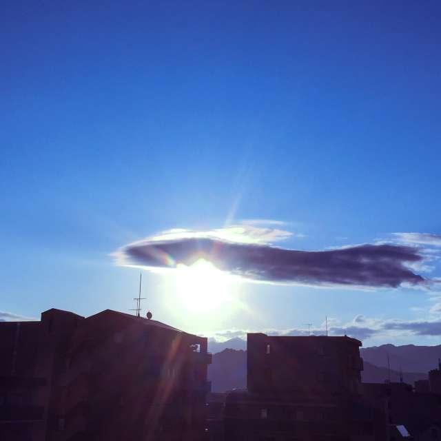 朝日の輝き