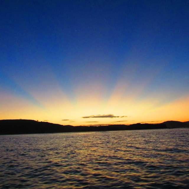 ロンボク島の朝
