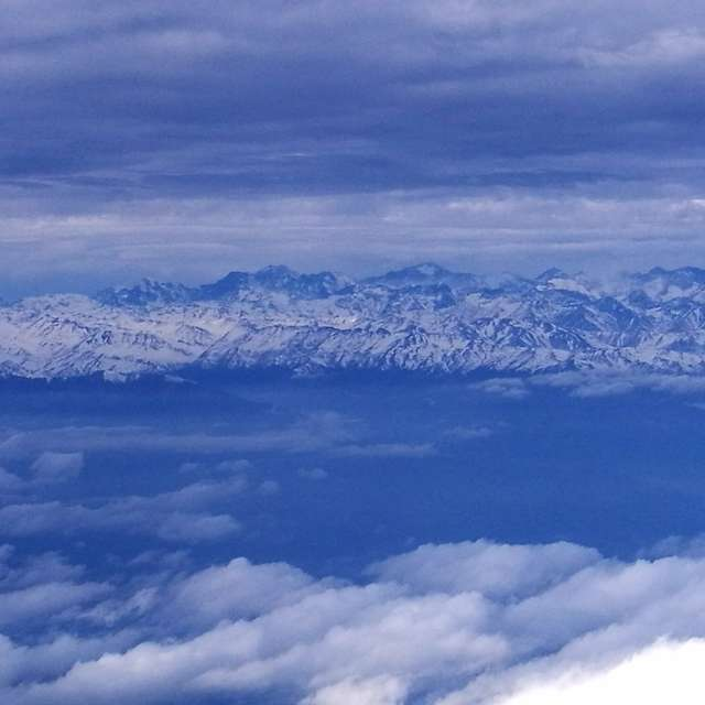 View of Andes mountain