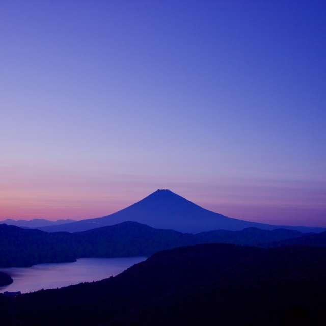 箱根大観山からの富士山夕景