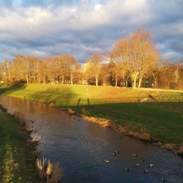 Sunset @Leine River