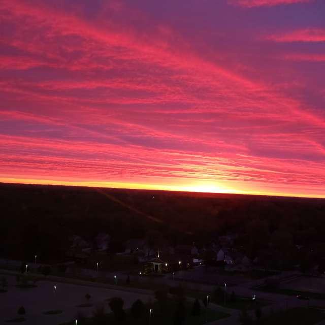 Sunrise in Michigan