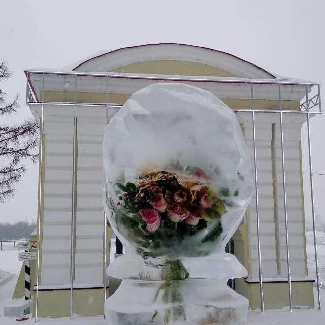 Букет во льду