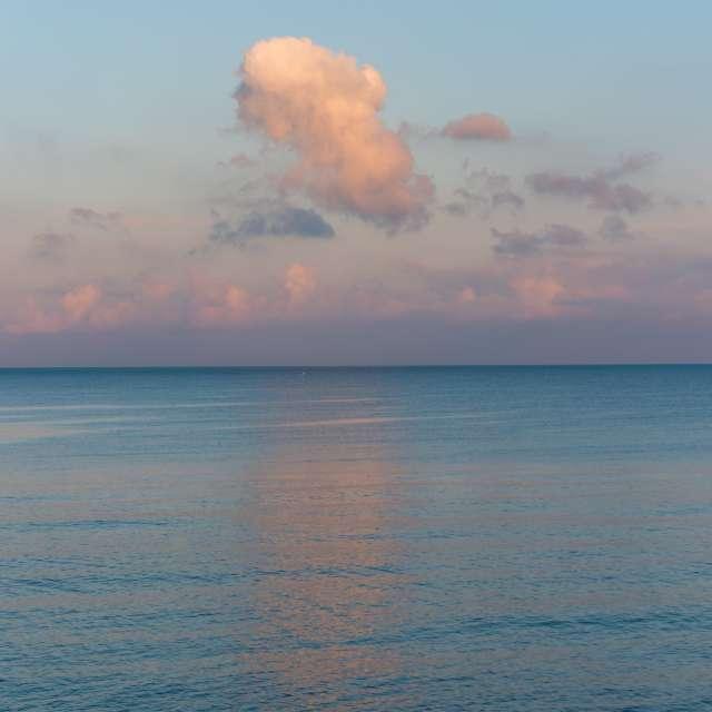 Sunrise over Mediterranean Sea