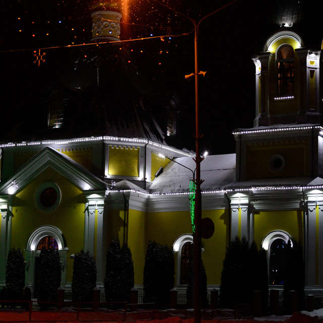 Фото храма после нового года.