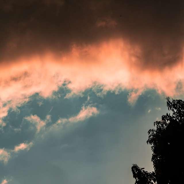 sunset clouds. winter