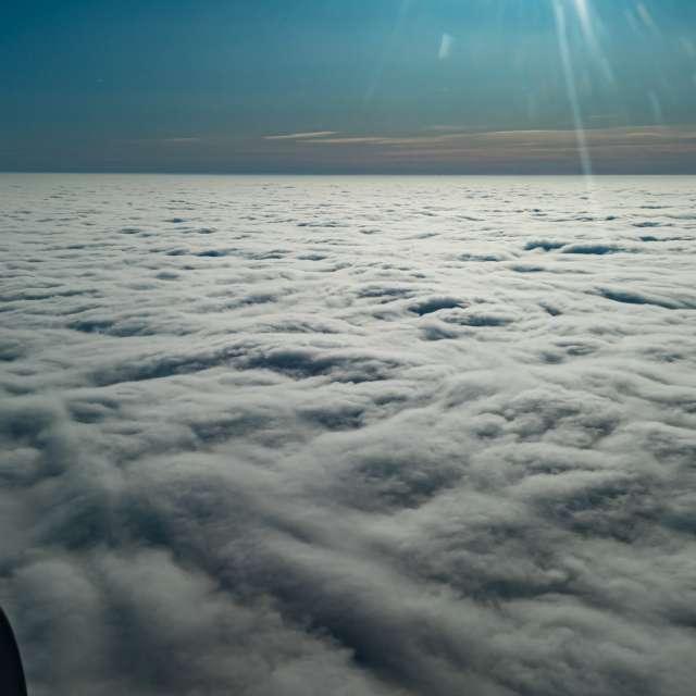 Czech Republic is below clouds
