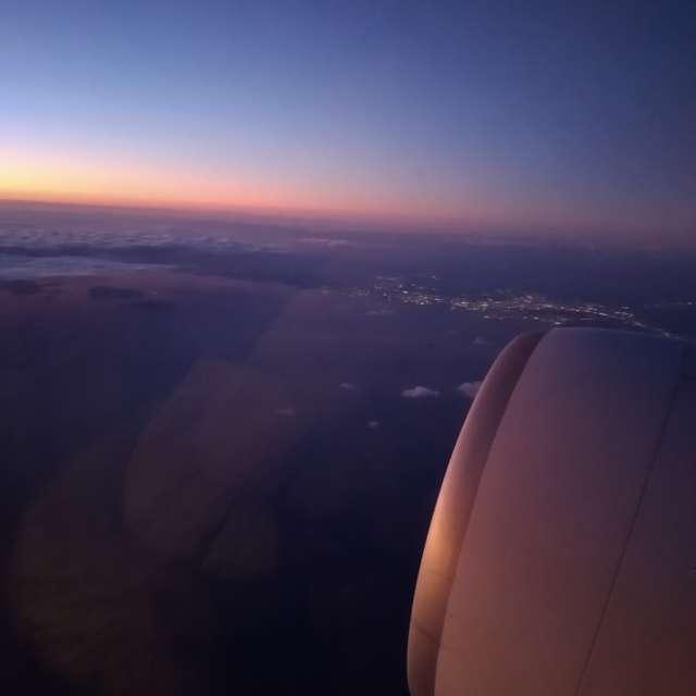 Sunset  Japan skyline