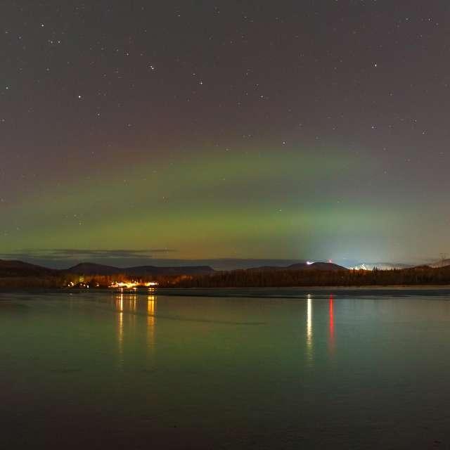 Northern lights in Québec