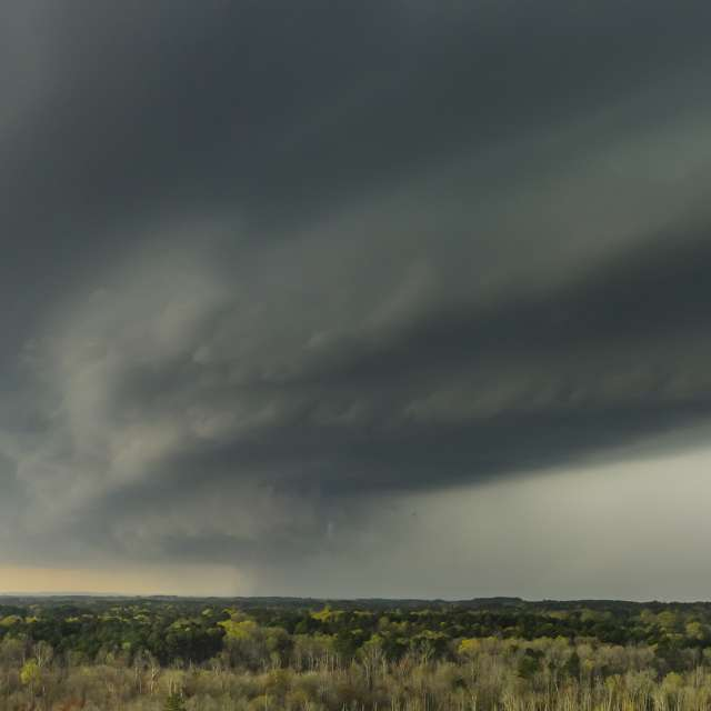 A developing supercell in NC