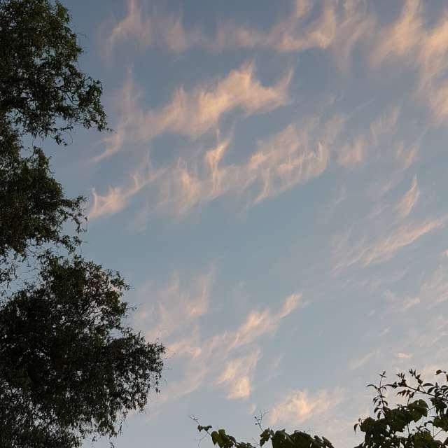 Avond wolken