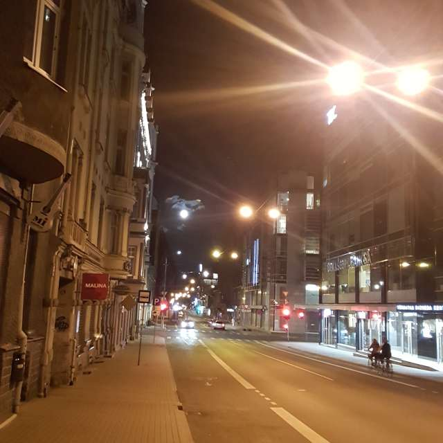 Ночная Рига Латвия