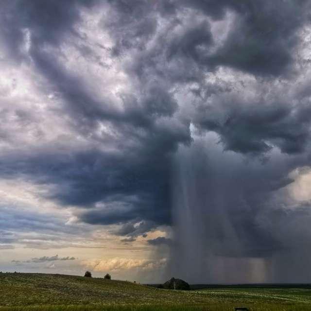 Burza na polu