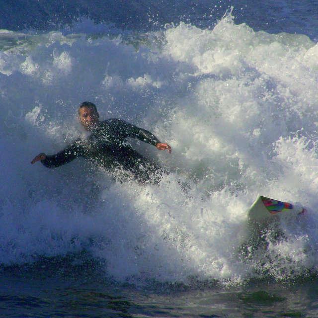 Surfing Through White Water