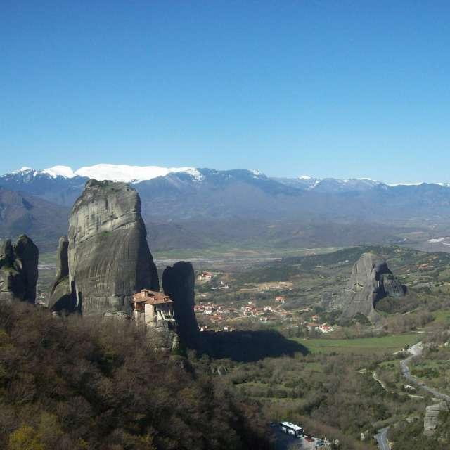 メテオラの修道院の絶景